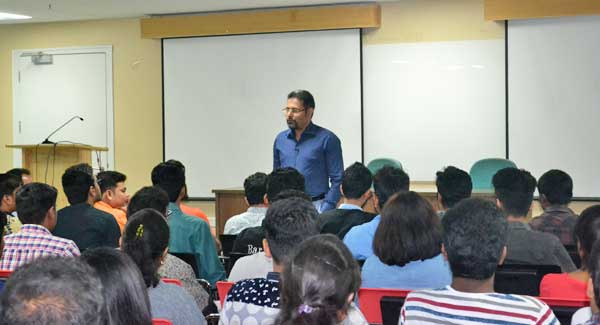 Dr.Chenraj Roychand, JGI Chairman interact with MIME PGDM Students