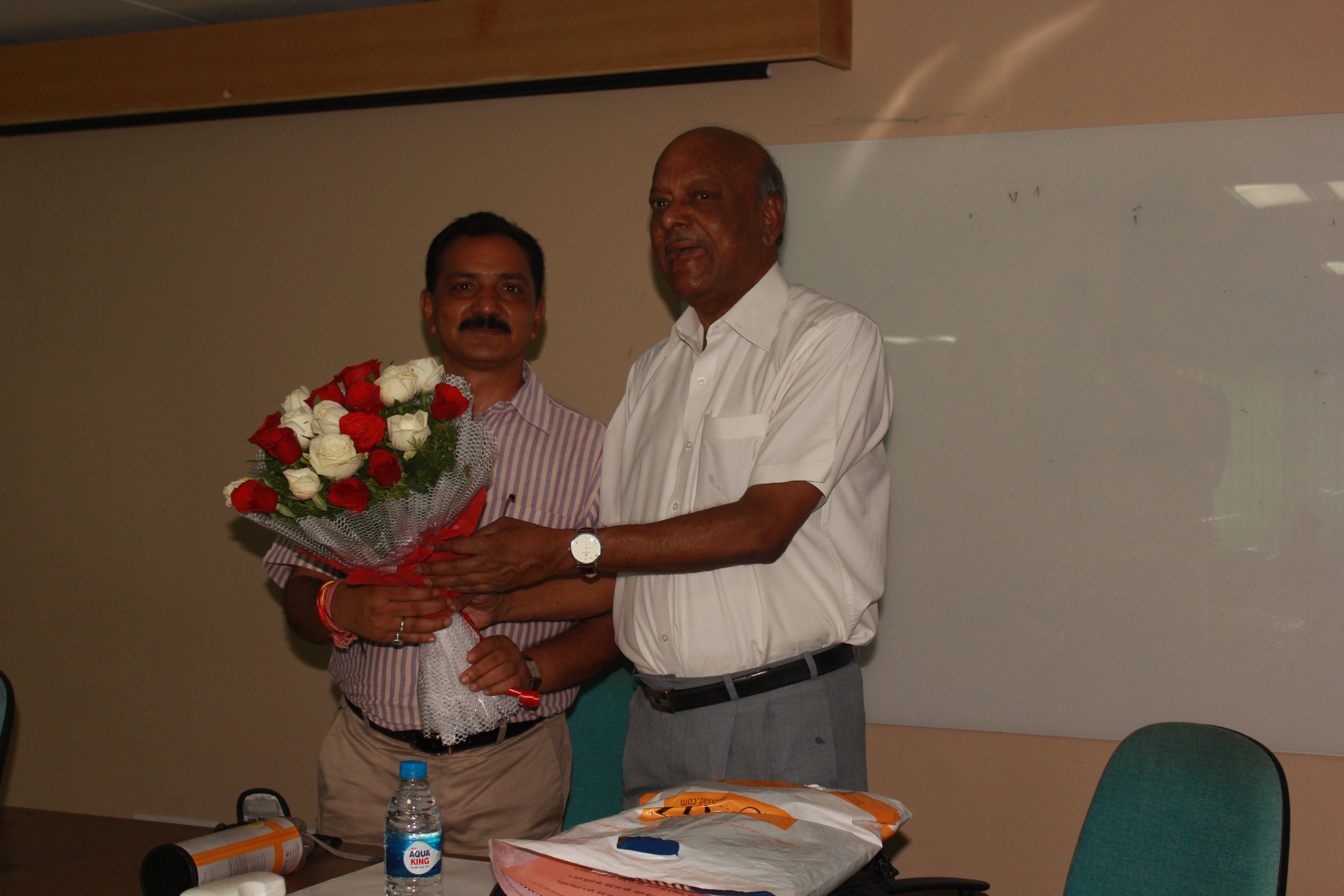 Dr. Mishra and Mr. S Nand at sucess in Life workshop
