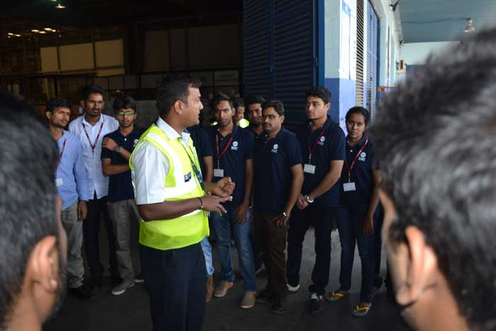 Industrial visit to Menzies Aviation Bobba Pvt Limited