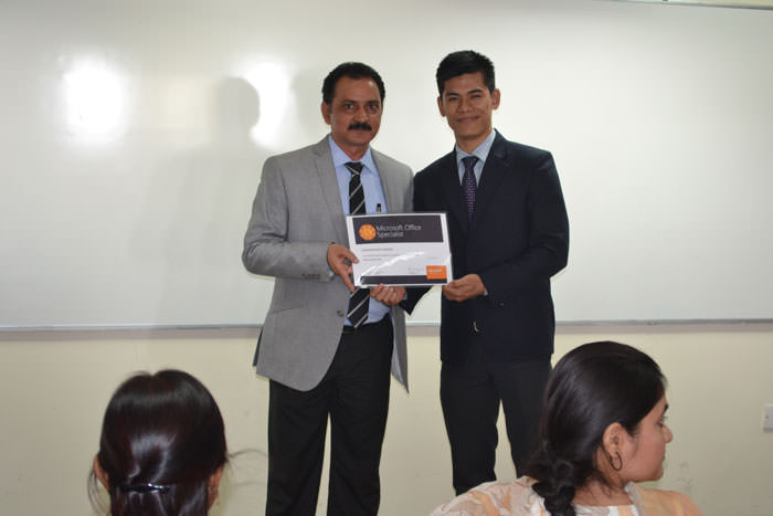 Microsoft excel certification for PGDM students
